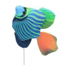Dekorative stik fisk forskellige farver 6stk