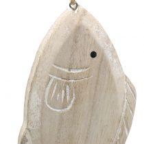 Dekorativt hængende træfisk 21cm 2stk