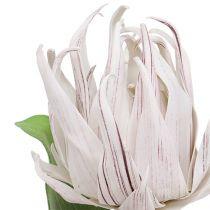 Skumblomstring hvid, lilla 12cm L30cm 1p