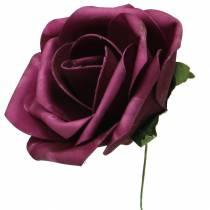 Skum-rose Ø10cm forskellige farver 8stk