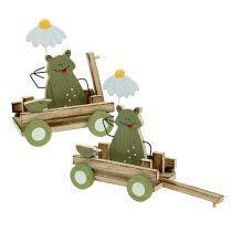 Frø i vognens natur, grøn 19cm x 7cm x 14cm 4stk