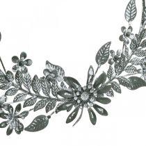 Forår dekoration, dekoration ring blomster, metal dekoration, vedhæng blomst dekoration Ø16cm 2stk
