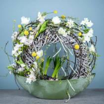 Spring dekoration tulipaner i en flok hvid 26,5 cm 5stk