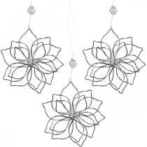 Forår dekoration, wire blomst, metal blomst, bryllup dekoration, dekoration vedhæng sommer 6stk
