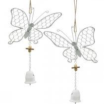 Forår dekoration, metal sommerfugle, påske, dekoration vedhæng sommerfugl 2stk