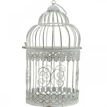 Spring dekoration, fugl bur at hænge, metal dekoration, vintage, bryllup dekoration 28,5 cm