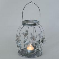 Spring dekoration, lanterne med sommerfugle, metal lanterne, sommer, lys dekoration