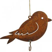 Dekorativ fugl, madbøjle, metal dekoration rustfrit stål 19 × 13,5 cm