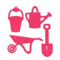 Haveværktøj føltes lyserødt 24stk