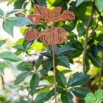 Haveprop græskar rust havedekoration efterårsmetal 57cm