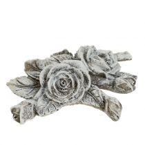 Rose til gravsmykker Polyresin 10cm x 8cm 6pcs