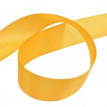 Gavebånd dekorationsbånd orange silkebånd 40mm 50m