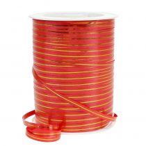 Gavebånd rød med guldstriber 4,8 mm 250m