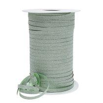 Gavebånd med glimmer lysegrøn 5mm 150m