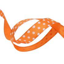 Gavebånd med prikker orange 15mm 20m