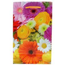 Gavepose med blomster 12cm x19cm 1 stk