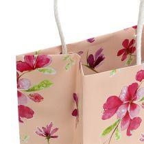 Gaveposer med blomster 20cm x 11cm x 25cm 6stk