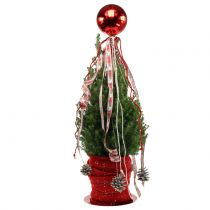 Julekugle plast lille Ø14cm rød 1p