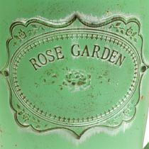 Dekorativ vandkande antik look grønt Ø19cm H30cm