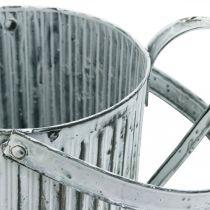 Metal dåse til plantning, vandkande til dekoration, plant dåse Ø17cm