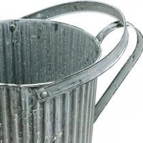 Vandkande til plantning, dekorativ metalkande, planter Ø19,5cm
