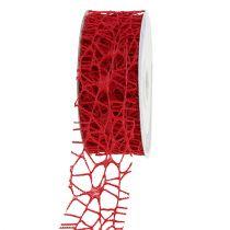 Mesh tape rød 40mm 10m