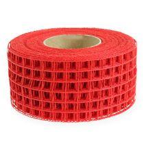Gitterbånd 4,5 cm x 10m rød