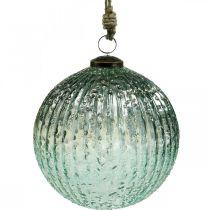 Glaskugle til at hænge blå vintage julepynt glas Ø15cm