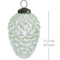 Tredekorationskegler efterårsfrugter ægte glas antik look Ø7cm H11,5cm 6stk