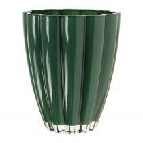 """Glasvase """"Bloom"""" mørkegrøn Ø14cm H17cm"""