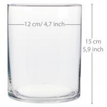 Glasvase Ø12cm H15cm