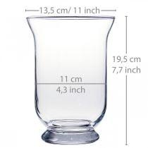 Glasvase klar Ø13,5cm H19,5cm glas dekoration blomstervase