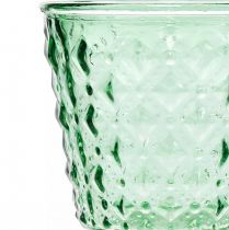 Glas lanterne Ø11,5cmH15,5cm turkis