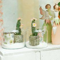 Glaslygte, dekorativ vase, dekoration af lys Ø18,5cm H21cm