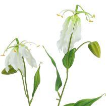 Gloriosa hvid kunstig 84 cm 3stk