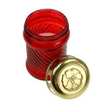Glasgravelys rød Ø6cm H11cm 12stk