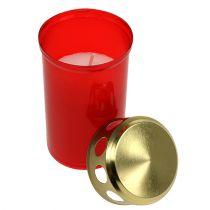 Gravlys cylindrisk rød Ø6cm H10cm 12stk