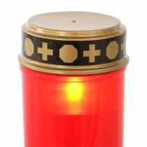 LED gravlys rød, varm hvid timer batteridrevet Ø6.8 H12.2cm