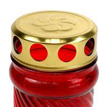 Grave lys glas rød Ø6cm H10.5cm 1 stk