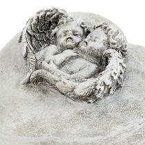 Grave smykkeshjerter med engle 9cm 3stk