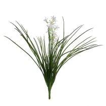 Græsbusk med blomster grøn, hvid 3stk