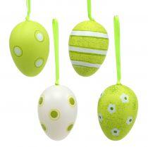 Hænger plastæg æg grøn 6 cm 12stk