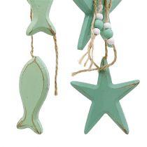 Dekorativt vedhæng stjerne, fiskemint 47cm - 50cm 2stk