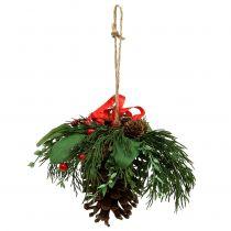 Juleophæng med kegler og bær 16 cm