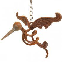 Kolibri havedekoration rustfrit stål fugl til ophæng 24 × 19cm