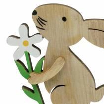 Blomsterkanin lavet af træ 9 cm 12stk