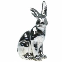 Kanin sølv antik H42cm