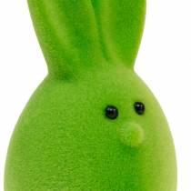 Påskeæg blandet med ører, flokede kaninæg, farverig påskedekoration 6stk