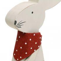 Bunny pige, foråret dekoration, træ bunny med en spand, påske bunny