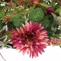 Efterår krans krysantemum lilla Ø30cm